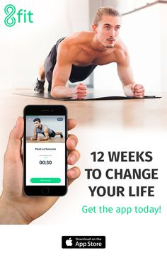 Get the app today & change your life for good.  8fit - Fitness, Nutrition & Personal Trainer for Android & iPhone Get customized workout & meal plans to get fit & healthy. All workouts can be done at home, no equipment necessary.  Short workouts are focused on your goals — losing weight, getting stronger, building muscle, etc. — and help you reach them quickly and effectively: http://go.8fit.com/8fitPinterest