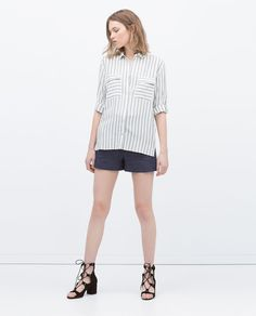 Image 1 of FLAP POCKETS STRIPED SHIRT from Zara