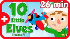 "♫1 little, 2 little, 3 little elves...10 little elves are making toys.♫  Practice craft related action verbs with Super Simple Learnings' holiday video, ""10 Little Elves."" Plus ten more holiday songs in this 26 minute video collection.  #preK #kindergarten #ESL #YouTube #supersimplesongs"