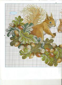 ru / Фото - 46 - by deann Fall Cross Stitch, Cross Stitch Boards, Cross Stitch Pillow, Stitch Book, Cross Stitch Heart, Cross Stitch Animals, Cross Stitching, Cross Stitch Embroidery, Embroidery Patterns
