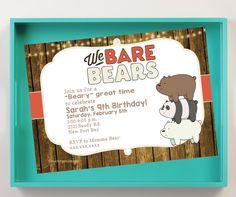 We Bare Bears Birthday Invitation Digital Download by BCristinaTrevino on Etsy https://www.etsy.com/listing/262183922/we-bare-bears-birthday-invitation
