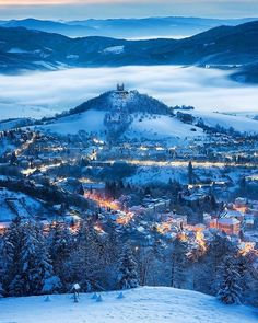 The beautiful town of Banská Štiavnica, Slovakia 🇸🇰 Travel Tours, Europe Travel Tips, Travel Usa, Travel Ideas, Beautiful Places In The World, Beautiful Places To Visit, Travel Route Planner, South America Travel, Winter Landscape