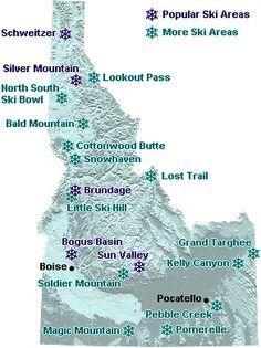 Ski resorts in Idaho  #visitidaho #idaho #ski #skiresorts