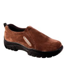 Another great find on #zulily! Mahogany Brown Leather Slip-On Shoe #zulilyfinds