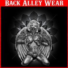 Marilyn Monroe Guns Tattoos Wings Gangster s 3X Ladies Junior T Shirt Sexy | eBay