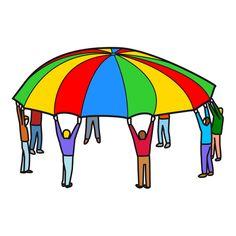 Resultado de imagen de juegos con paracaidas para niños