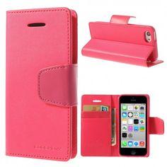 Apple iPhone 5C Pinkki Goospery Lompakkokotelo  http://puhelimenkuoret.fi/tuote/apple-iphone-5c-pinkki-goospery-lompakkokotelo/