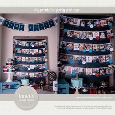 Tijd vliegt verjaardag foto Banner door door taniasdesignstudio