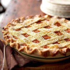 Lattice-Top Spiced Pumpkin Pie