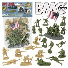 BMC WW2 Iwo Jima Plastic Army Men - Island, Tanks and Soldiers 72pc Playset - Walmart.com - Walmart.com Forte Apache, Army Men Toys, Battle Of Iwo Jima, Lego Army, Lego Ww2, Plastic Toy Soldiers, King And Country, Buy Lego, Vintage Toys