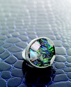Shine like a rock star! #Abalone #Glass #Sterling #Silver #SilpadaStyle