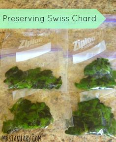 How to Preserve Swiss Chard