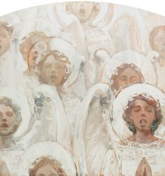 Angels singing in White by J.Kirk Richards