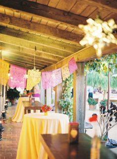 color, mexican, summer wedding