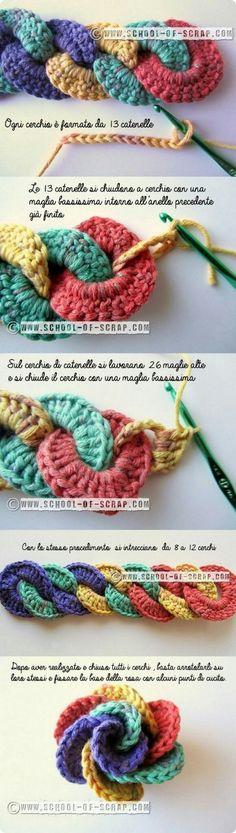Watch The Video Splendid Crochet a Puff Flower Ideas. Phenomenal Crochet a Puff Flower Ideas. Knit Or Crochet, Crochet Motif, Crochet Crafts, Yarn Crafts, Crochet Stitches, Crochet Baby, Chrochet, Crochet Flower Patterns, Knitting Patterns
