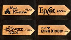 """Remember how far """"Home"""" is with These Custom Disney Distance Signs"""