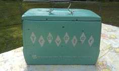 Vintage Turquoise Cooler, Ice Chest, Camping, Airstream, 50's 60's, Traveler | eBay
