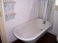 bare bathroom when we were cleaning to rent it out a few years ago. Claw foot bath tub
