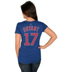 Kris Bryant Chicago Cubs Royal Women's Player T-Shirt by Majestic   SportsWorldChicago.com  #ChicagoCubs @cubs