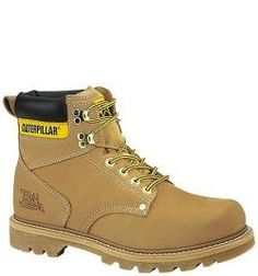 70042 Caterpillar Men's Second Shift Work Boots - Honey www.bootbay.com