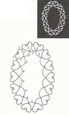 Can translate this to English. Tatting Necklace, Tatting Jewelry, Tatting Lace, Lace Patterns, Craft Patterns, Needle Tatting Patterns, Tatting Tutorial, Beadwork Designs, Crochet Needles