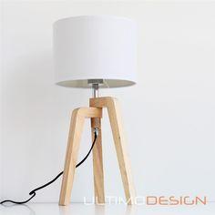 como hacer una lampara tripode de madera - Buscar con Google