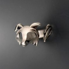 Border Collie Ring in Sterling Silver Animal Rings, Animal Jewelry, Border Collie Names, Hound Dog, Pink Sapphire, Cuddling, Garnet, Silver Rings, Work Ethic