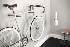 Minimal Father's Day gifts from Etsy - cool bike wooden bike hooks for bike storage in the living room Trendy Father's Day gifts from Etsy. Father's day gifts for a trendy Dad. Minimal Father's Day presents handmade by artists on Etsy. Hanging Bike Rack, Indoor Bike Rack, Indoor Bike Storage, Wall Mount Bike Rack, Bike Hooks, Bicycle Storage, Bicycle Rack, Bike Mount, Bike Shelf