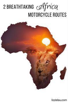 2 Breathtaking Africa Motorcycle Routes #travel #adventuretravel #africa