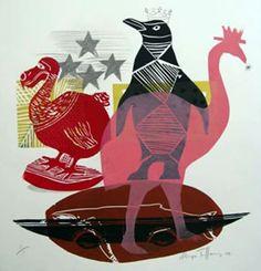 Sheyne Tuffery. Animal Paintings, Tigger, Printmaking, New Zealand, Rooster, Disney Characters, Fictional Characters, Art Ideas, Animals