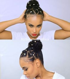 We've all have had bad natural hairstyle days. Bad hair days shouldn't stop you from doing the things that are important to you. This video shows a natural hairstyle for bad hair days. Get some tips on how to deal with a bad hair Rubber Band Hairstyles, Braided Hairstyles, Natural Hairstyles, Simple Hairstyles, Hairstyles 2018, Protective Hairstyles, Pixie Hairstyles, Bad Hair Day, Pelo Afro