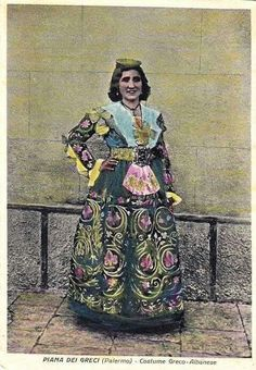costume - Piana degli Albanesi, Sicily, Italy