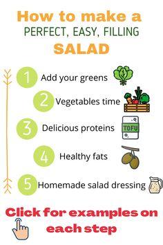 Vegan Recipes Beginner, Recipes For Beginners, Free Recipes, Chef Salad Recipes, Lunch Recipes, Chickpeas, Lentils, Healthy Dishes, Healthy Recipes