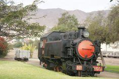 Museo de Ferrocarriles de Chile en Antofagasta. Antigua locomotora que transportaba salitre.