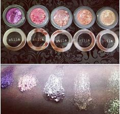 MUST get my hands on these! They're expensive but they look absolutely amazing. Stila Foil Finish eyeshadows.