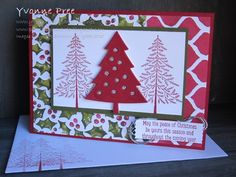 Peaceful Pines, World Card making day 2015, Holiday Catalogue 2015, Yvonne Pree, Stampin' Up!