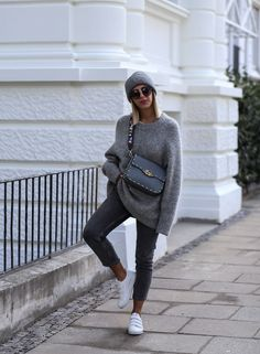 Grey autumn fall look