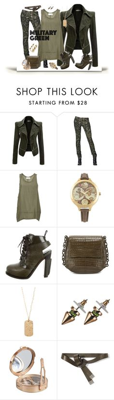 """""""Military Green"""" by xtina75 ❤ liked on Polyvore featuring мода, Diesel Black Gold, Faith Connexion, Decree, Alexander Wang, Nancy Gonzalez, Heather Hawkins, Mawi, Marni и Alexander McQueen"""