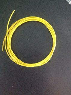 6 Feet Yellow 22 awg PVC Coated Guitar Wire 22 gauge for Control Cavity Wiring #Generic