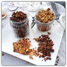 GRANOLA CASERA CON Y SIN CACAO Cereal, Muffin, Breakfast, Food, Dairy Free Recipes, Healthy Breakfasts, Healthy Food, Convenience Store, Products