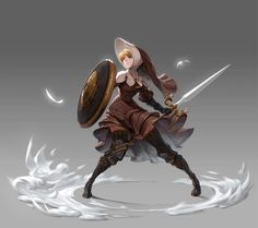 """""""Nun Knight"""" by Daniel Bae Female Character Design, Character Creation, Character Design References, Character Design Inspiration, Character Concept, Character Art, Concept Art, Dungeons And Dragons Characters, Dnd Characters"""