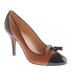 Shop J.Crew for the Mona tassel heels for Women. Find the best selection of Women Clothing available in-stores and online. Spectator Shoes, Tassel Heels, Heeled Loafers, Black Patent Leather, Tan Leather, Loafers For Women, Women's Pumps, Me Too Shoes, Women's Shoes