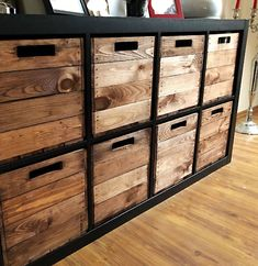 """Pack of 4 wooden box """"used"""" for Kallax shelves Paket Holzkiste """"used"""" für Kallax Regale Pack of 4 wooden box """"used"""" for Kallax shelves Ikea Diy, Ikea Shelves, Diy Storage, Bedroom Storage Ideas For Clothes, Kallax Ikea, Ikea, Bedroom Organization Storage, Ikea Boxes, Wooden Boxes"""