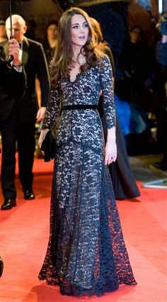 "Gorge-a-mus. Kate Middleton wears Temperley to the London premiere of ""War Horse."""