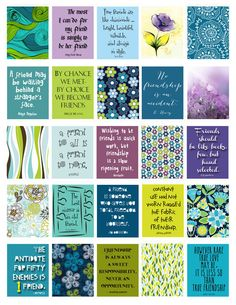"Friendship Quotes Stickers Life Planner Printable/Digital 1.5""x1.9"" for erin condren life planner weekly boxes. (Soon in 3x4 and 4x6)"
