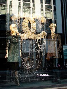 Chanel Pearls Window Display