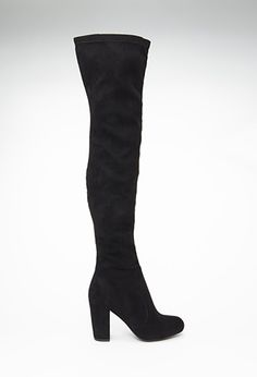 Faux Suede Over-the-Knee Boots   FOREVER21 - 2000100663 - Find 150+ Top Online Shoe Stores via http://AmericasMall.com/categories/shoes.html