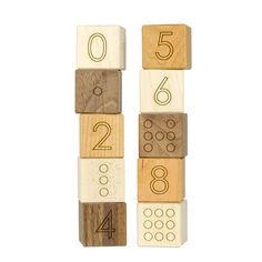 Number Blocks, 0-9 counting kids wooden toy