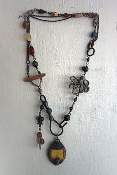 The Ship's Chandler  mermaid gypsy necklace  by TuscanRose on Etsy, $95.00  This looks so ancient!