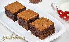 Negrese Americane – Brownies - reteta video No Cook Desserts, Sweet Desserts, Dessert Recipes, Brownies, Eat Dessert First, Pinterest Recipes, Sweet Memories, Fudge, Sweet Tooth